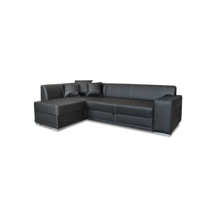 Canap lit d 39 angle mezzo achat vente canap sofa for Canape lit d angle