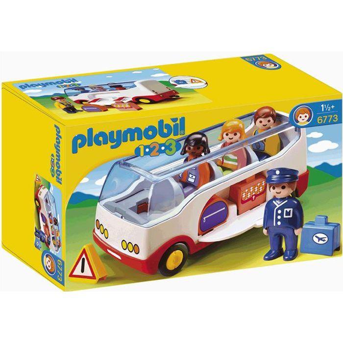 UNIVERS MINIATURE PLAYMOBIL 6773 - PLAYMOBIL 1.2.3 - Autocar De Voya
