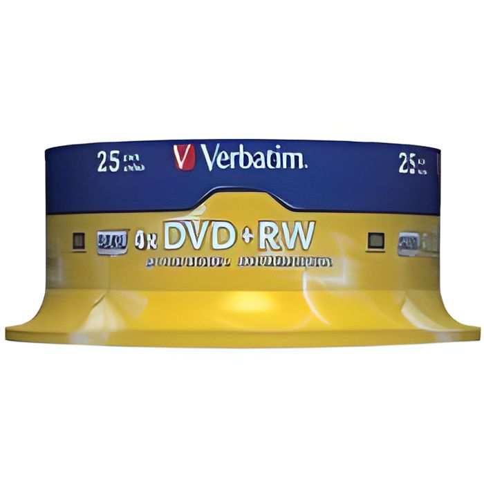 CD - DVD VIERGE VERBATIM - 25 x DVD RW - 4.7 Go 4x - spindle