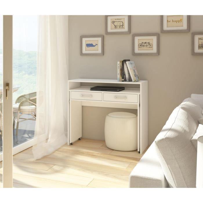 BUREAU  Vivaldi ZOOM Bureau - 98 cm - blanc mat
