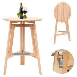 MANGE-DEBOUT Festnight Table de Bar en bois   table de bar haut