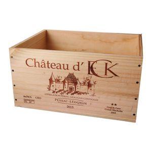 CAISSE BOIS La Caisse Bois 6x75cl estampillé Château d'Eck - C