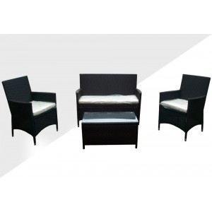 Salon de jardin en résine - table basse -sofa - Achat ...