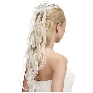 Photo coiffure cheveux long mariage