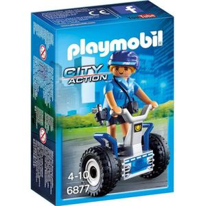 UNIVERS MINIATURE PLAYMOBIL 6877 - City Action - Policière avec Gyro