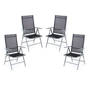 SALON DE JARDIN  greemotion Chur Ensemble de chaises de Jardin Noir