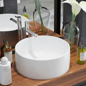 Vasque /à Poser Rectangulaire Maze 49x39 cm C/éramique Noir Mat