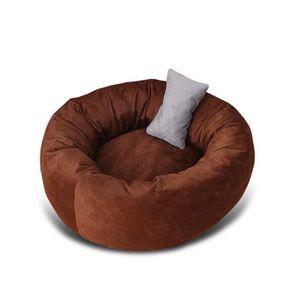 CORBEILLE - COUSSIN Lit pour Chien Rond Sac de Couchage Chaud lit pour