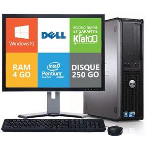 UNITÉ CENTRALE + ÉCRAN ordinateur de bureau dell optiplex 780 intel dual
