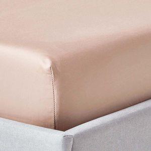 DRAP HOUSSE Drap-housse uni 150 x 200 cm 100 % coton égyptien