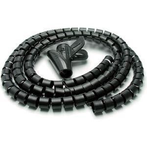 CACHE PRISES - CÂBLES Metronic 495277, Range-câble, Noir, 150 cm, 25 mm,
