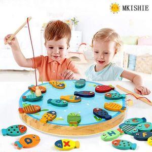 TABLE JOUET D'ACTIVITÉ MKISHINE® 2 in 1 Jeu de Pêche 30 PCS Alphabet Magn