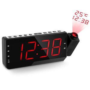Radio réveil Radio Réveil à Projection FM avec Double Alarmes,