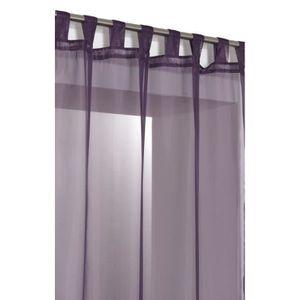 RIDEAU Voilage Uni a Pattes 140 x 240 cm Violet