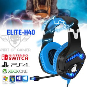 CASQUE AVEC MICROPHONE Casque audio ELITE H40 Spirit of Gamer - Rétro écl