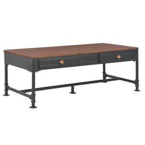 TABLE BASSE vidaXL Table basse avec 2 tiroirs 115x55x40 cm Boi