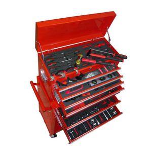 Sealey AP2200BB constitu/ée de 6/tiroirs avec coulisses /à roulement /à Billes/ servante et Roulette Rouge//Gris