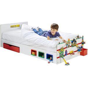 LIT EVOLUTIF Room 2 Build Lit simple pour enfant avec rangement