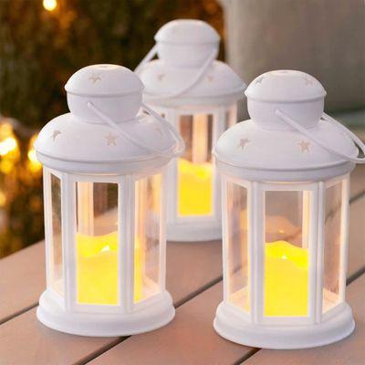 Lights4fun Lot de 10 Bougies Etanches et Submersibles aux LED Blanches