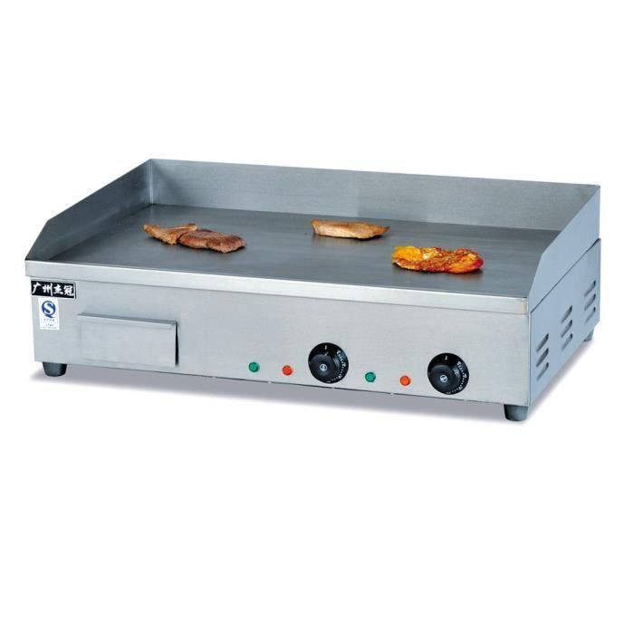 4400W Plancha de Table Électrique Commercial en Acier Inoxydable 73cm