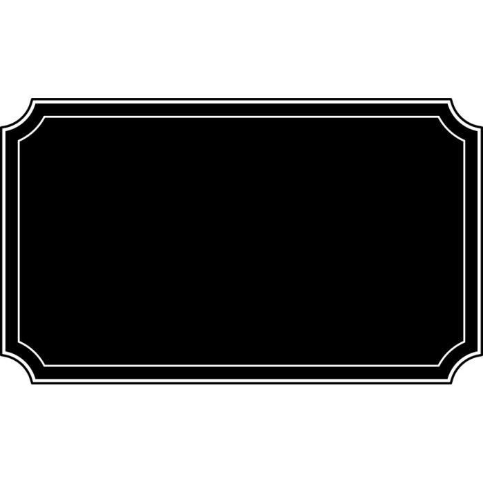 Stickers ardoise cadre Ref: ARD-277 34x57 cm