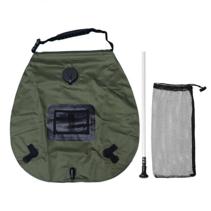 1 pc Camping sac de douche de extérieur à dos poche d'eau conteneur de rangement pour voyager AUVENT - STORE - SOLETTE - SAS