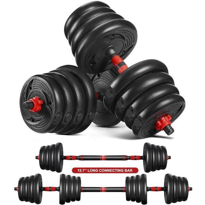 Kit Haltère ajustable - Haltères Musculation 30kg