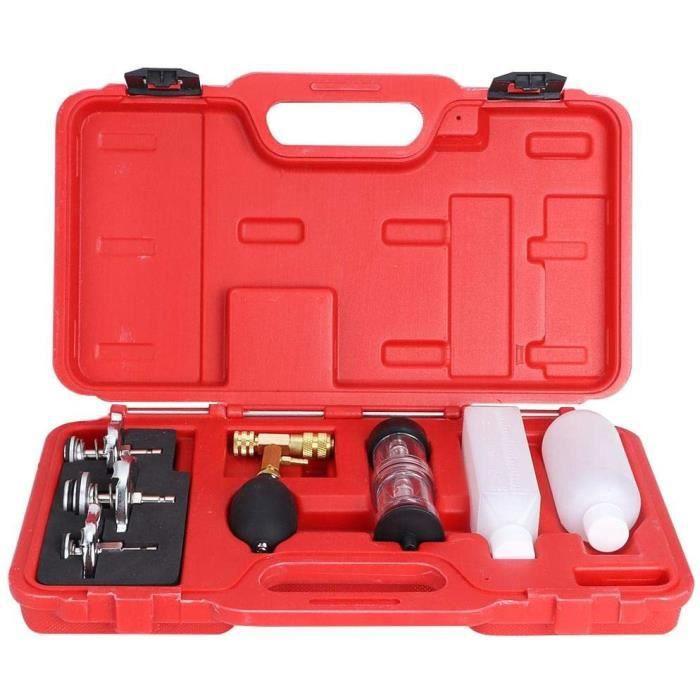 Testeur de cylindre, outil de diagnostic de cylindre de moteur de testeur de détecteur de fuite de joint de culasse avec 3 adapt,101