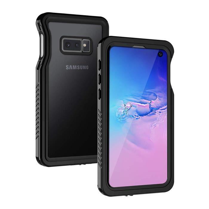 Coque Samsung S10e Étanche, Full Body avec Protection écran Intégré [IP68 Imperméable], Capteur d'empreintes Digitales de Soutien