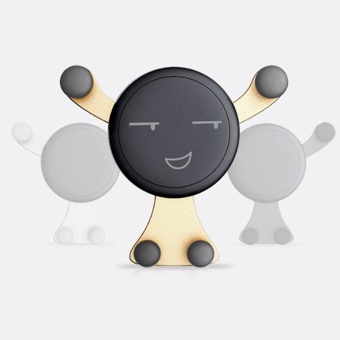 Support de berceau de support de véhicule d'évent d'air de support de bâti de voiture d'Emoji pour le téléphone portable