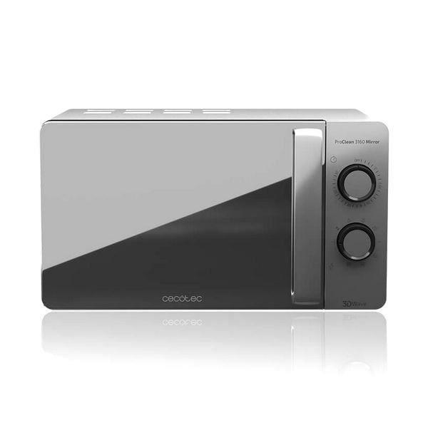 Micro onde et grill de 20 L, 700 W, 6 réglages, Argenté