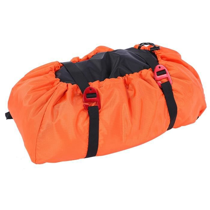Cikonielf Sac d'escalade Kit de corde d'escalade sac bandoulière pliable pour camping en plein air randonnée (orange)
