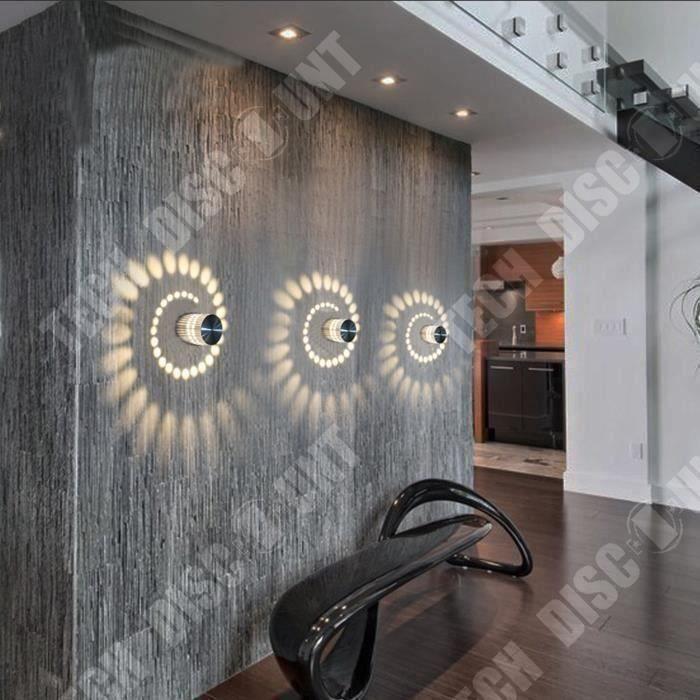 Lampe murale LED magnifique motif éclairé design tendance moderne style contemporain décoration intérieur extérieur éclairage