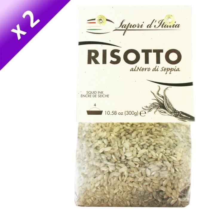 [LOT DE 2] SAPORI D'ITALIA Préparation pour Risotto Encre de Seiche - 300 g