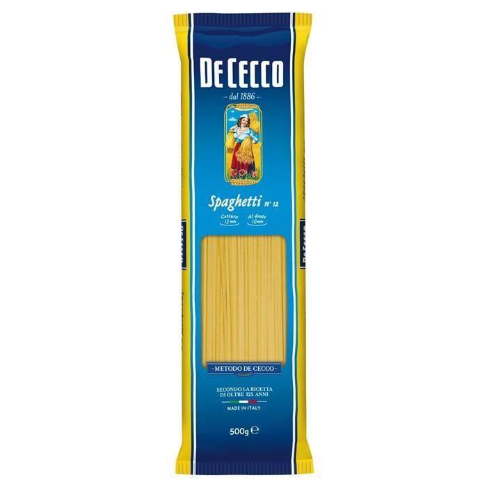 LOT DE 8 - DE CECCO : Spaghetti n°12 500 g