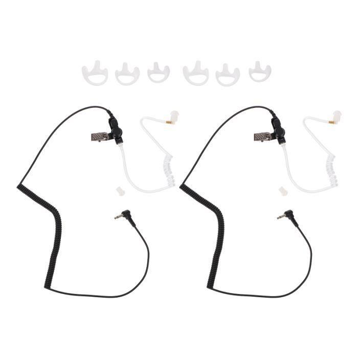1 Ensemble de silicone à la mode casque casques Pratique-Écoute pour intercom - kit communication confort conducteur et passager