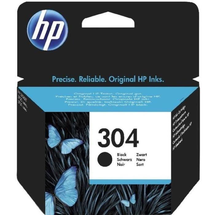 HP 304 cartouche d'encre noire authentique pour HP DeskJet 2620/2630/3720/3730 (N9K06AE)