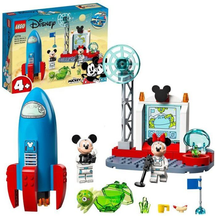 LEGO® 10774 Disney® La fusée spatiale de Mickey et Minnie Mouse Figurine Alien, Jouet Enfants 4 ans et plus