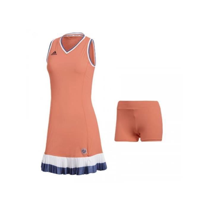 Robe ADIDAS Femme Roland Garros Corail / Indigo PE 2018
