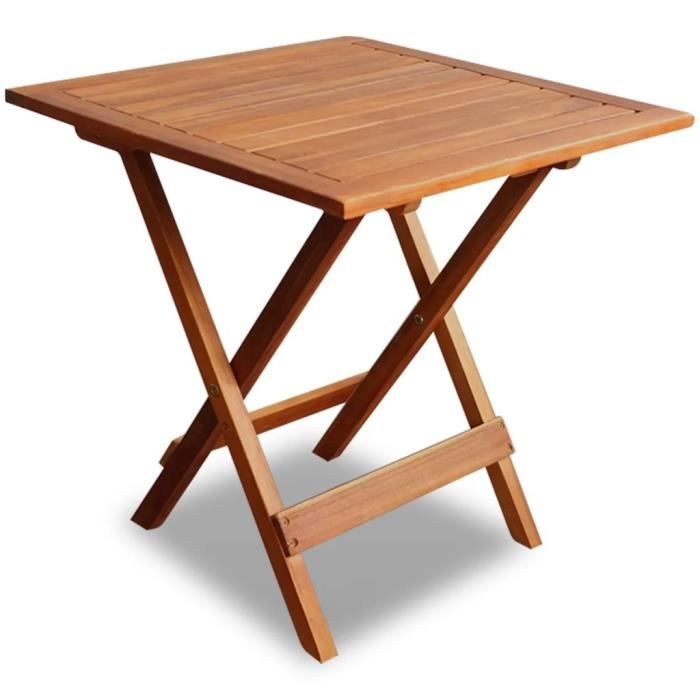 Table basse d'extérieur Carré Bois d'acacia 46 x 46 x 47 cm