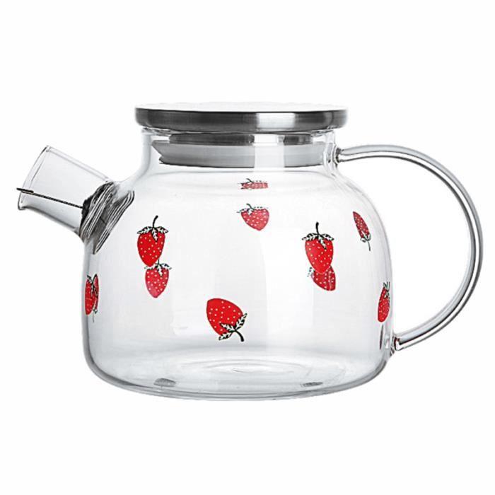 1 Pc théière en verre en résistant à la chaleur en à haute teneur en borosilicate pour thé à CAFETIERE - THEIERE - CHOCOLATIERE