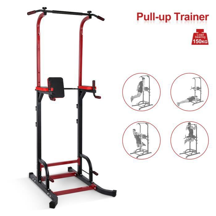 Barre de traction ajustable Station musculation Dips station Chaise romaine- Pull up bar NOUVEAU -YES