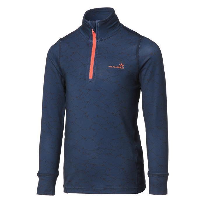 WANABEE Sous-vêtement de randonnée Fit WarZip - Garçon - Bleu Marine