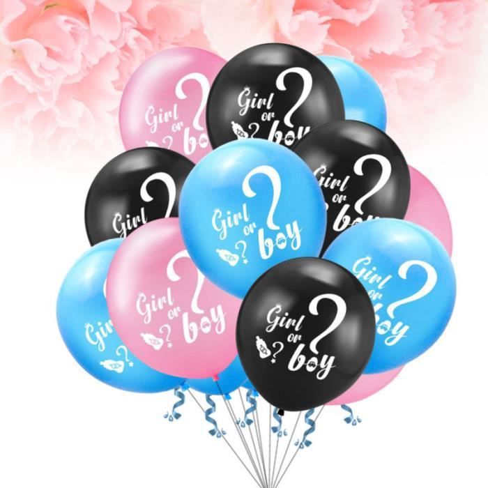 50pcs Gender Reveal Party Balloons Girl or Boy Latex Baby Shower Supplies (Random Pattern) SUPPORT A DECORER