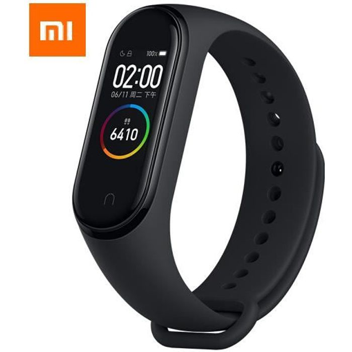 Mi Band 4 XIAOMI - Version Française - Montre Connectée - Bracelet Intelligent - Montre Connectée GPS - Noir