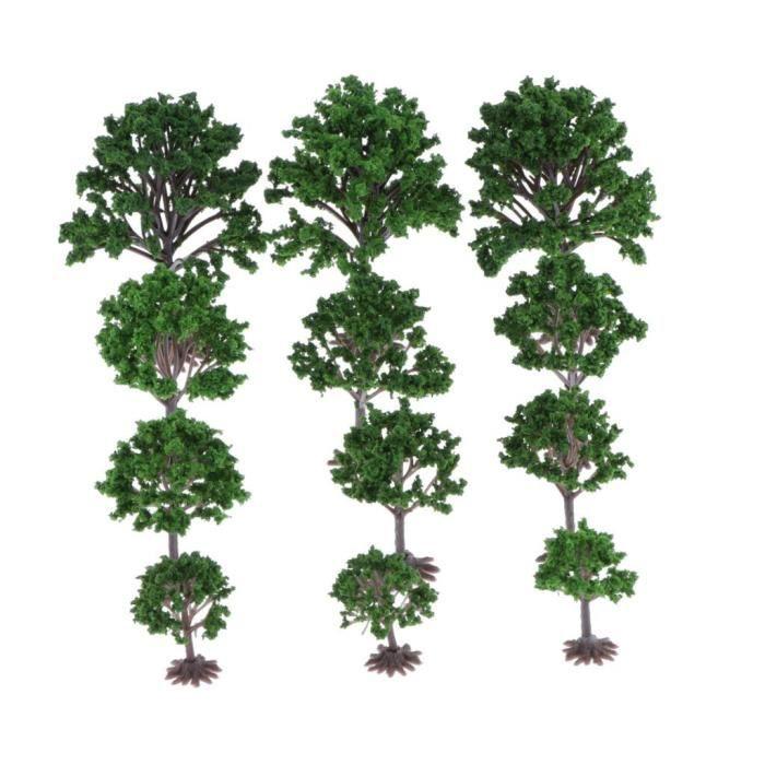 Lot 50 arbres assortis decors 3 cm N
