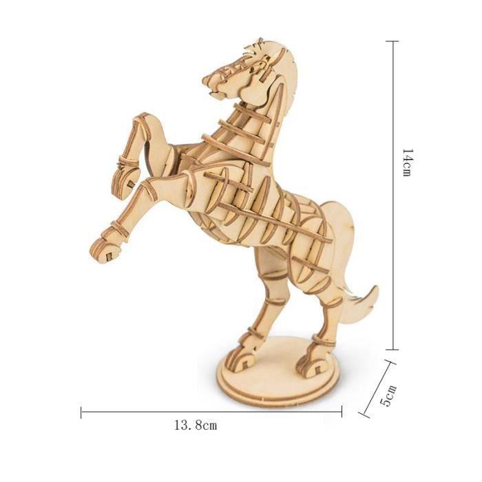 CASSE-TÊTE ROBOTIME Cheval La peinture Puzzle en bois 3D Asse