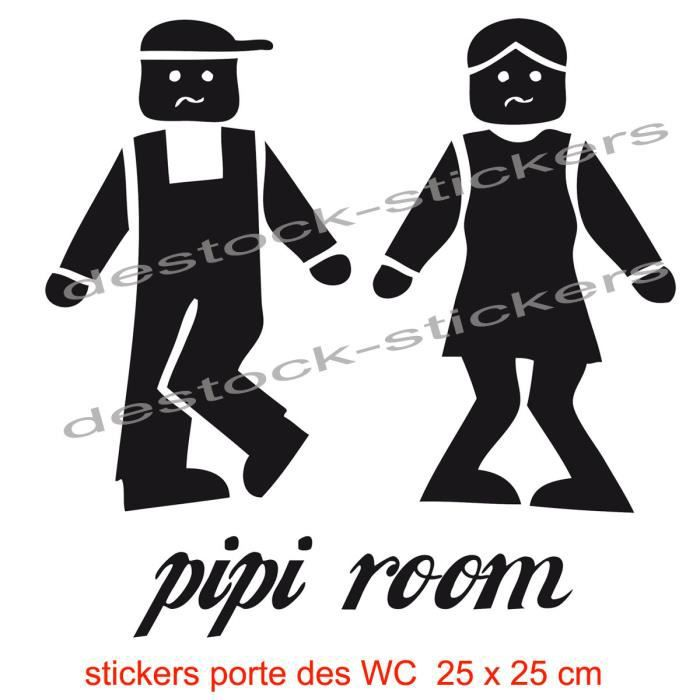 Stickers wc pour la porte de vos toilettes pipi room en for Stickers pour porte toilettes