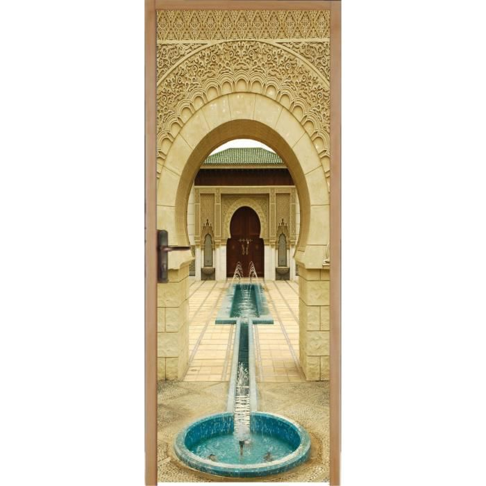Stickers porte d co fontaine orientale r f 305 dimensions Stickers porte interieure maison