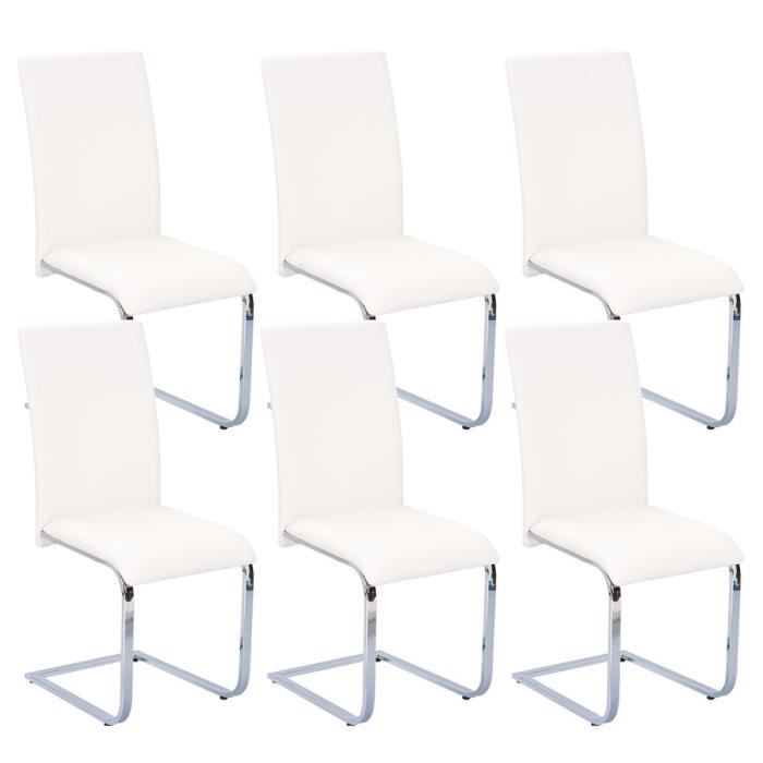 brooklyn lot 6 chaises blanches achat vente chaise blanc cdiscount. Black Bedroom Furniture Sets. Home Design Ideas